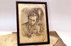Портрет Тараса Григорьевича Шевченко написан карандашом