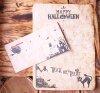 Пригласительный конверт с вкладышем хеллоуин